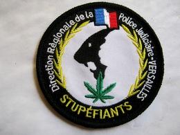 ECUSSON TISSUS PATCH POLICE NATIONALE DRPJ DE VERSAILLES STUPEFIANTS VELCROS - Police & Gendarmerie