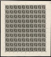 1914 G.D. Marie-Adélaide: 15c. Noir-olive, Neuf, Feuille Entière à 100, Michel: 94 (2scans) - Full Sheets