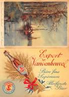 Reclame 2 Postkaarten Aan Elkaar   Export VANDENHEUVEL Bier Biere Brouwerij / Vieux Canal En Brabant     I 3737 - Reclame