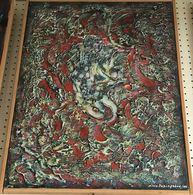 """OPERA DELL'ARTISTA NINO PARLAGRECO """"COMPOSIZIONE"""" POLIMATERICO ASTRATTO 50X70 DEL 2005 - Acrylic Resins"""
