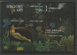 Sierra Leone 2012 History Of Art The Dream By H. Rousseau Sheet  Y.T. 4926 A/D ** - Sierra Leone (1961-...)