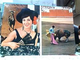 CORRIDA TORO E TORERO Bull Fighter FESTA BRAVA GIRL  RAGAZZA  VB1971  GU3159 - Corrida