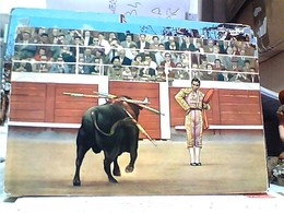 CORRIDA TORO E TORERO Bull Fighter ILLUSTRATA  V1964  GU3160 - Corrida