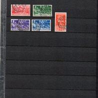 1930 Regno Francesco Ferrucci Serie Ordinaria Completa N. 276 - 280 Timbrati Used - 1900-44 Vittorio Emanuele III