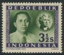 "Indonesia Indonesie Mi 5 ** - ""REPOEBLIK"" - Sultan Sjahrir + Jefferson 3rd President USA - Indonesië"