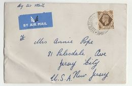 1940s Air Mail CASTLECAULFIELD Cds GB Stamps COVER Northern Ireland To USA - 1902-1951 (Kings)