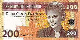 Monaco Spécimen 200 Francs 2018  Emission Privée Limitée UNC - Mónaco