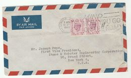 1949 GB COVER To USA Slogan  MIND HOW YOU GO ON THE ROAD  Road Safety  2x 6d  Stamps - 1902-1951 (Kings)