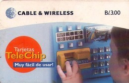 TARJETA TELEFONICA DE PANAMA (CHIP NEGRO). PAN-C&W-47a (046) - Panamá