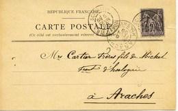 925 - Haute Savoie -  SCIONZIER  : Carte Précurseur De Joseph DEPERY - CARLY  Circulee En1899 - Fabrique De Barillets - Scionzier