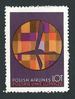 LOT POLISH AIRLINES  LABEL / VIGNETTE Mnh - Erinofilia