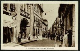RB 1218 - Early Postcard - Post Office & Main Street - Gibraltar - Gibraltar