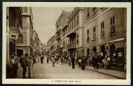 RB 1218 - Early Postcard - Main Street & Policeman - Gibraltar - Gibraltar
