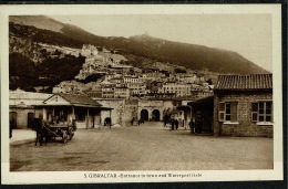 RB 1218 - Early Postcard - Entrance To Town & Waterport Gate - Gibraltar - Gibraltar