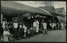 RB 1220 - Early Ethnic Postcard - Native Shops - Ceylon - Sri Lanka - Sri Lanka (Ceylon)