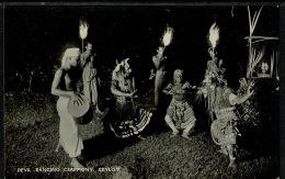 RB 1220 - Real Photo Ethnic Postcard - Devil Dancing Ceremony - Ceylon - Sri Lanka - Sri Lanka (Ceylon)