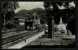 RB 1220 - Real Photo Postcard - Temple Of The Holy Tooth - Kandy Ceylon - Sri Lanka - Sri Lanka (Ceylon)