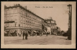 RB 1220 - Early Postcard - Via Del Porto Fiume - Rijeka Croatia Italy Interest - Croatia