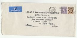 1953 Air Mail GB COVER 1/-  3d Stamps To USA Slogan BRITISH INDUSTRIES FAIR - 1902-1951 (Kings)
