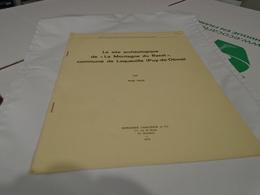 """SITE ARCHEOLOGIQUE DE LA """" MONTAGNE DU RAZAT """" COMMUNE DE LAQUEUILLE (PUY-DE-DÔME) SERGE PAUL / Auvergne 1969 Ed 1972 - Auvergne"""