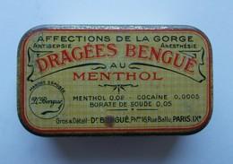 - Boite Métal. Dragées Bengué Au Menthol - Pharmacie - - Matériel Médical & Dentaire