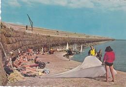 Postcard St Catherine's Jersey Channel Islands Animated Breakwater Scene PU 1965 My Ref  B22934 - Jersey