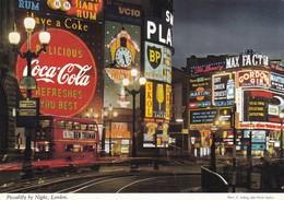 Postcard Advertising Coca Cola BP Skol Martini Max Factor Gordons Gin In Piccadilly Circus John Hinde My Ref  B22935 - Advertising