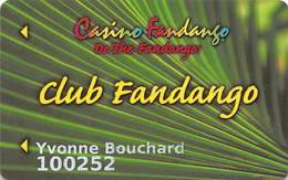 Casino Fandango Carson City, NV Slot Card - Casino Cards