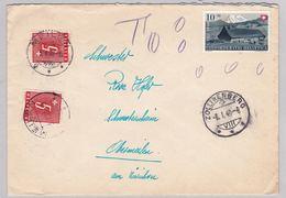 Brief Von Zollikerberg, Portomarken (br5170) - Svizzera