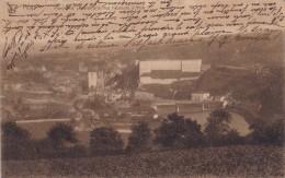 Huy Panorama Général Pris Des Hauteurs D'Ahin Circulée En 1914 Avec Taxe - Hoei