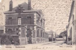 Antoing Gendarmerie Circulée En 1906 Avce Relais De Racour - Antoing