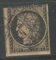 Cèrés 20c Noir S'jaune - 1849-1850 Ceres