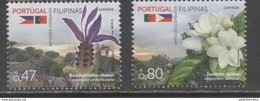 PORTUGAL ,2016, MNH, JOINT ISSUE WITH THE PHILIPPINES, FLOWERS, 2v - Emissions Communes