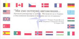 NATO WAR FLYER BOMBING OF SERBIA YEAR 1999 (NATO LETAK 3) - Historische Dokumente