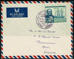 RB 1221 - Super 1967 Airmal Cover - Chile Antarctic Territory 70c Rate To Kent UK - Exploration Theme - Chile
