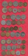 Autres-Afrique 45 Pièces Dans L 'état (Avec Des Doubles ) Lot N °1 - Monnaies & Billets