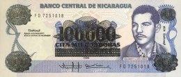 Nicaragua 100.000 Cordobas, P-159 (1989) - UNC - Nicaragua