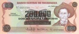 Nicaragua 200.000 Cordobas, P-162 (1990) - UNC - Nicaragua