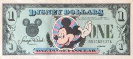 USA 1 Disney Dollar, 1988 Issue - EF/XF - USA