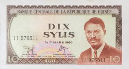 Guinea 10 Sylis, P-16 (1971) - UNC - Guinée