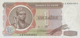 Zaire 1 Zaire, P-19b (20.5.1981) - UNC - Zaire