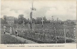 51 Bataille De La Marne Tombe Des Soldats Français à Maurupt Le Montoy - France