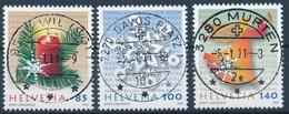 1373-1375 / 2183-2185 Mit Vollstempel DAVOS PALTZ, MURTEN, WIL (SG) - Schweiz