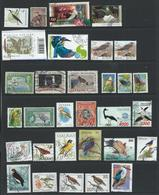 Birds Countries A-Z - 60 X Used To Very Fine Used On 3 X Scans - Incl 3 X Sets Cat £86+- See Full Description Below - Collections, Lots & Series