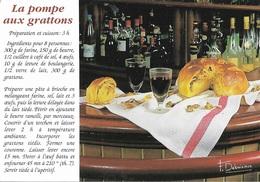 Recettes De Cuisine - Recette La Pompe Aux Gratons - Carte Signée /  F.Debaisieux - Cpm - Pas écrite - - Recetas De Cocina
