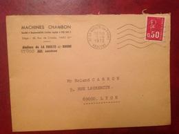 La Voulte Sur Rhône Machines Chambon - Marcofilia (sobres)