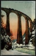 RB 1222 - 1908 Postcard - Albulabahn Landwasserviadukt Switzerland - Railway On Viaduct - Switzerland