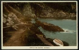 RB 1222 - 1931 Postcard - Gouffre Guernsey Channel Islands - 2 X 1/2d PUC Stamps - Guernsey