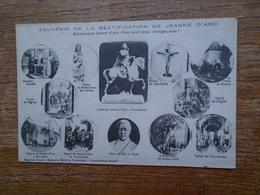 """Carte Assez Rare , Souvenir De La Béatification De Jeanne D'arc , Multi-vues """" écrite Au Dos Par Un Poilu De Verdun """" - Personen"""