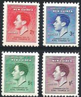 New Guinea #118-21   - Coronation George VI  - 1937 - 4v  Mint - Papoea-Nieuw-Guinea